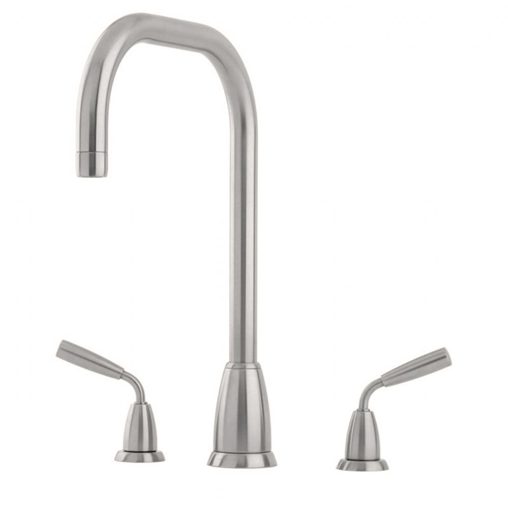 4873 Perrin & Rowe Titan Three Hole Sink Mixer Tap U Spout with Lever Handles